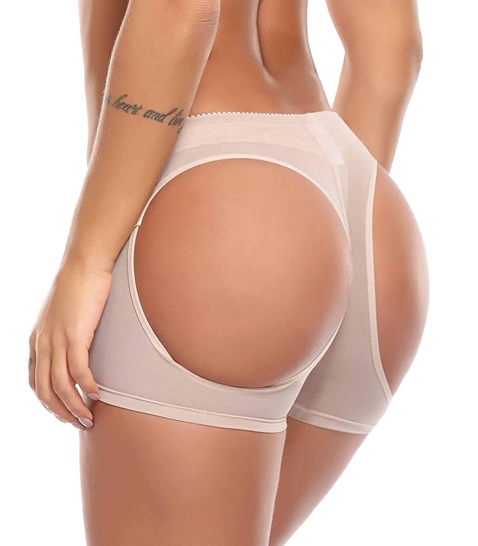 Get Quotations · Jason&Helen Women's Butt Lifter Lace Boy Shorts Body  Shaper Enhancer Panties Butt Lifting Underwear