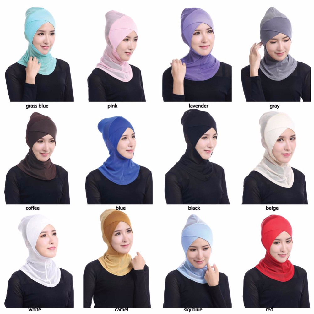 High quality economic cheap muslim inner hijab women wear head cover high quality borong shawl hijab in stock