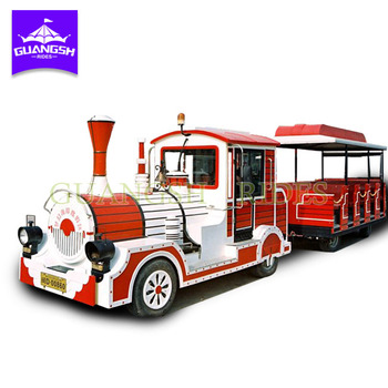 Cheap price outdoor amusement attraction 2 carriages 40 seats electric train for sightseeing