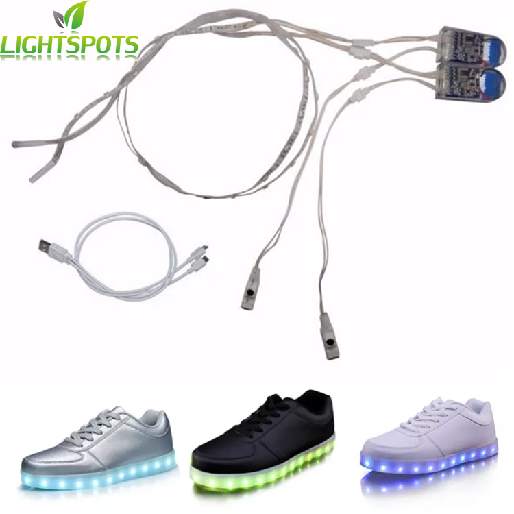Factory custom 3 volt 3528 rechargeable battery powered led strip light for shoes