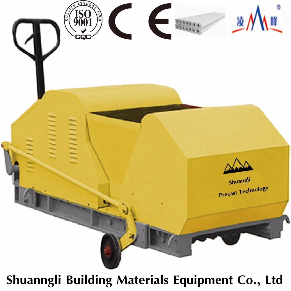 precast building materials hollow core roof slabs machine,cement 120mm wall panels extruder for tiny house with low cost