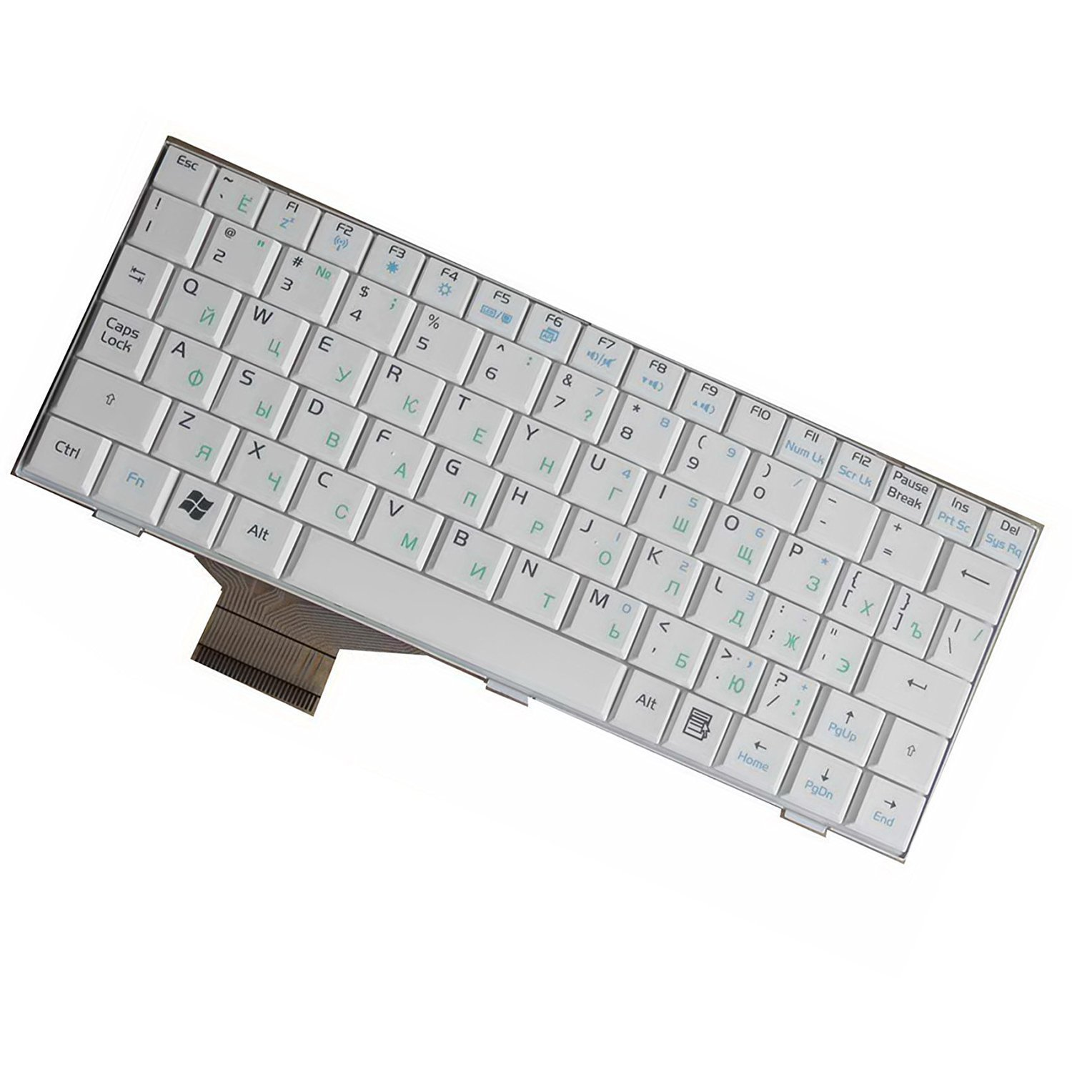 YEECHUN White Russian/RU QWERTY Keyboard For Asus Eee PC 700 701 701SD 701SDX 900 901 900hd 900A 2G 4G 8G Series New Notebook Replacement Accessories Component Parts White