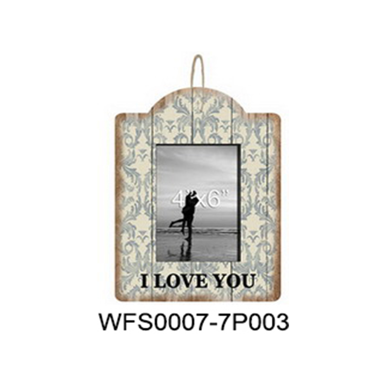 Stock wall decorative photo frame mdf photo picture frame with hemp rope