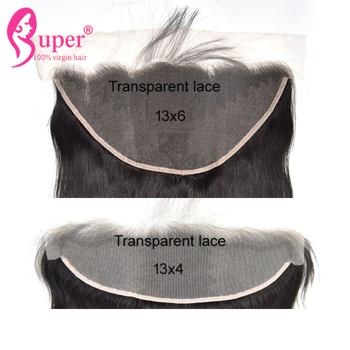 Cheap Wholesale 100% Raw Indian Virgin Human Transparent 13 6 Lace Frontal Closure With Baby Hair Extension