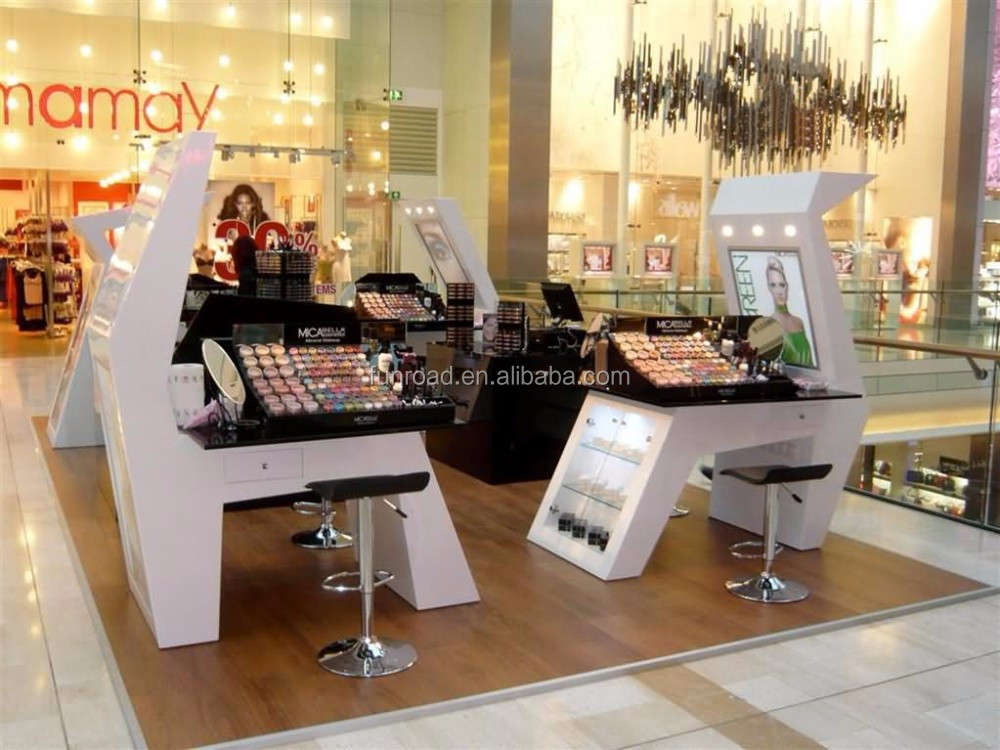 Mall Cosmetics Display Kiosk for Hot Sale