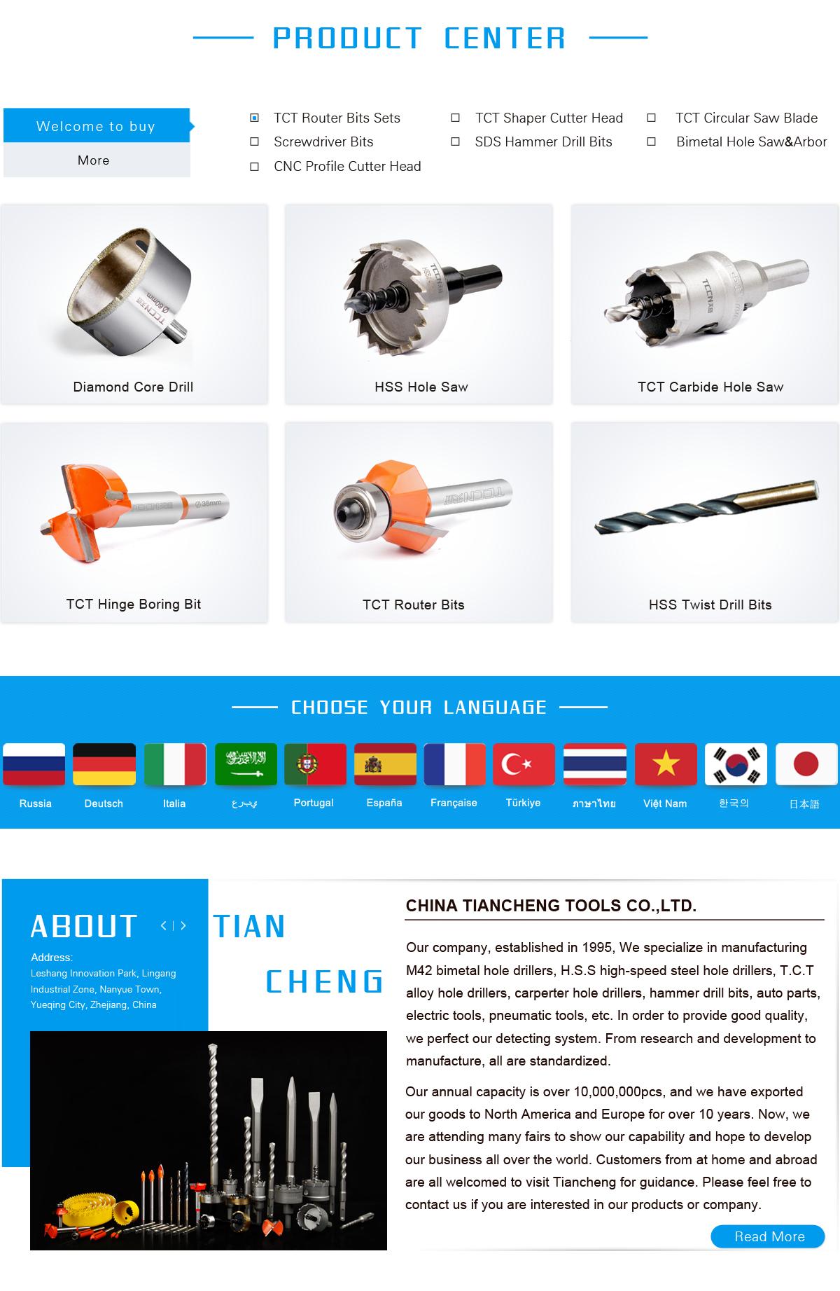 Tiancheng Tools Co., Ltd. - auto parts, hole saw