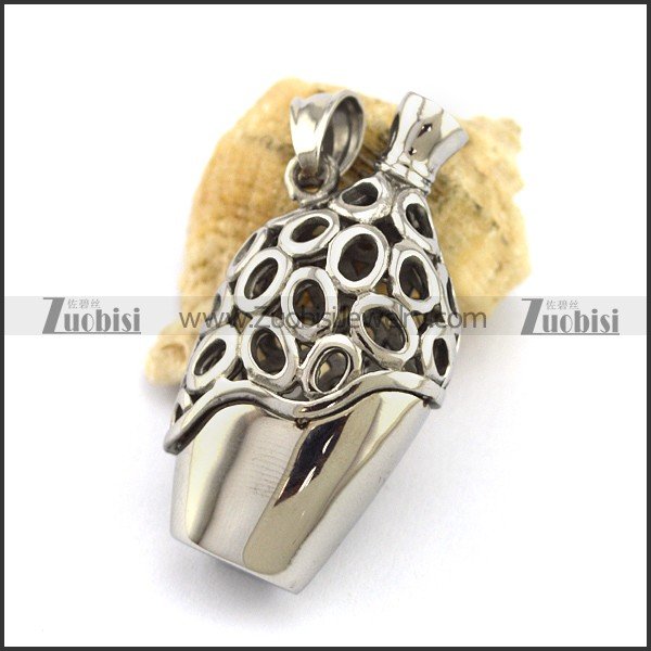 bottle shaped stainless steel pendant