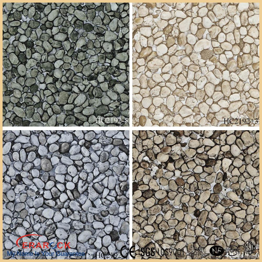 Vinyl flooring pebbles print gurus floor for Floor print