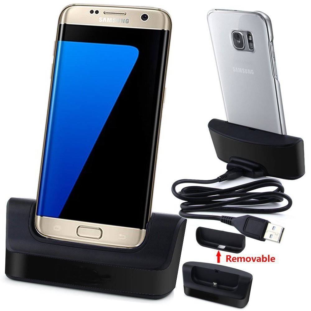 Galaxy S7 Edge Charger, Galaxy S7 Edge Charging Station, AnoKe USB 3.0 Desktop Charging Docking Station Cradle Pad for Samsung Galaxy S7 Edge Mobile Cell Phone Charger Dock