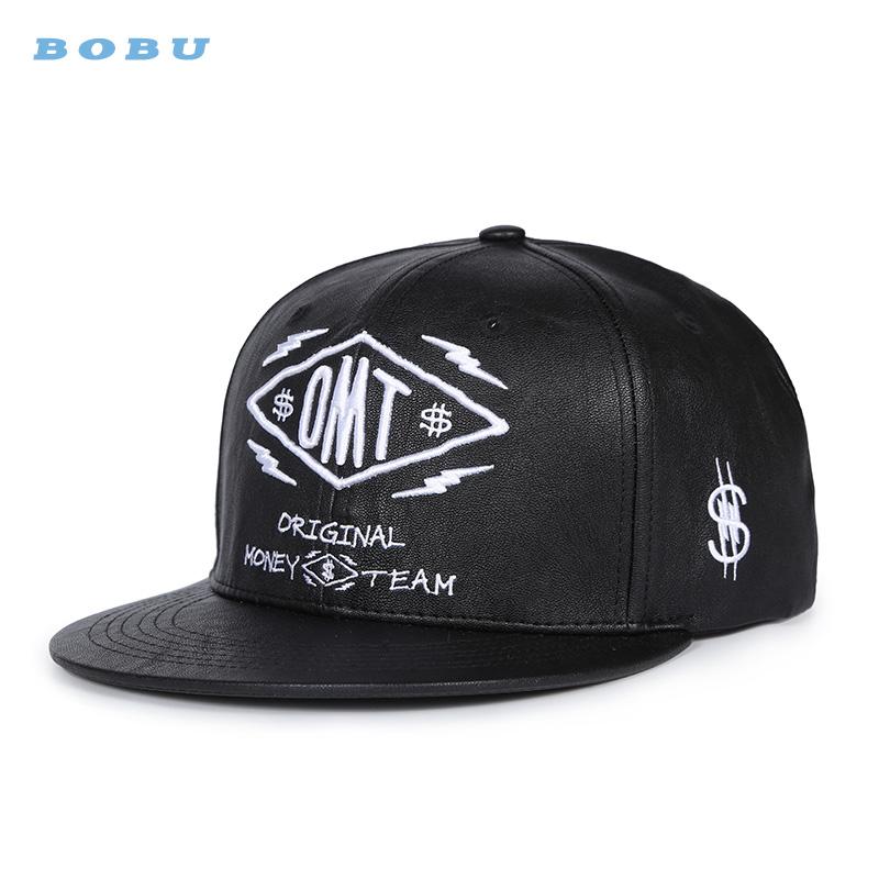 f19f0c050787c Atacado Logotipo Personalizado Bordado snapback chapéus de couro ...