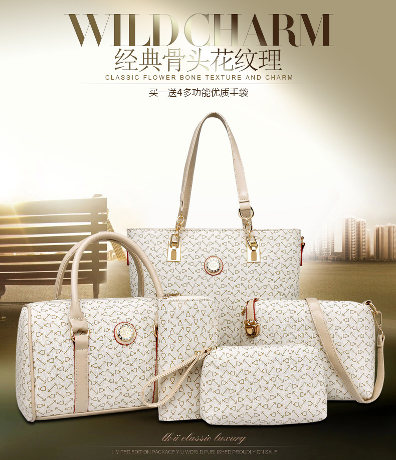 4e710f4a1fe2 2018 tote leather bags woman lady handbag fashion women PU fashion set bags  shoulder bag mad in china