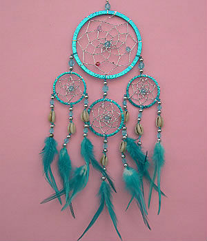 Dream Catchers With Beads Sparkling plastic dreamcatcher wglass beads cowrie shell accent 14