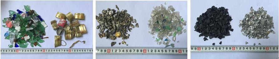 Eddy current non-ferrous dross separator for aluminum molding sand scraps
