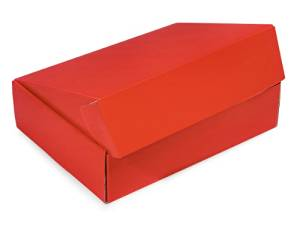 "Decorative Shipping Boxes - Red Gourmet Shipping Boxes 12x9x3"" Auto Lock Boxes - (6 Per Pack) - WRAPS - 53RE"