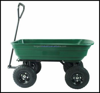 Handle Pull Garden Cart/pull Wagon/plastic Dump Cart