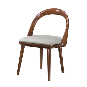 Comfortable Design of Royal Banquet Dining Chair Leather Solid Wood Chair for Dining Room Furniture