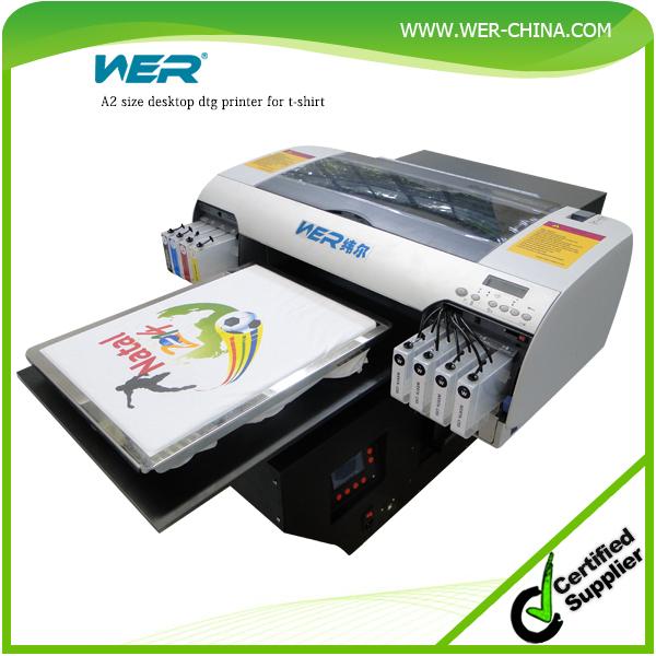 Popular A2 WER D4880T Desktop Type Direct To Garment T Shirt Flatbed Printer