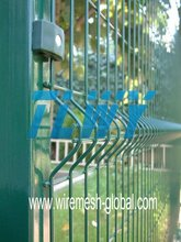 High stable structure pvc curvy welded wire mesh fence
