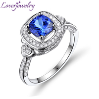 Solid 18K Gold Diamond Tanzanite Engagement Ring ,Diamond And Gemstone Gold Jewelry For Sale