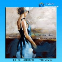 Custome portrait style 100% hand painted nude art work abstract figure canvas oil painting