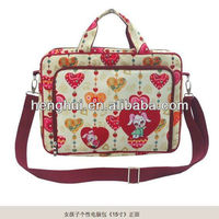 Flower printing laptop computer bags for women