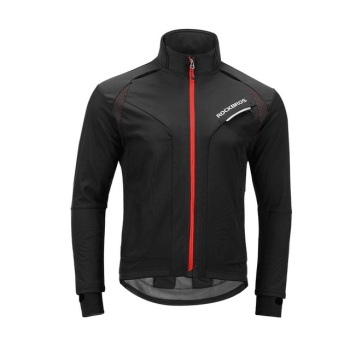 Langarm-Radtrikot Winter-Thermo-Fleece-Jersey Windproof Reflective Rainproof Riding Sportbekleidung Radjacke