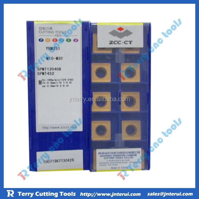 10pcs ZCC.CT SPMT120408-YBG302 SPMT432 YBG302  NEW Carbide Inserts