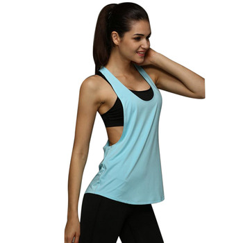 Sexy Fitness Clothes Women Gym Loose Workout Sleeveless Wear Top
