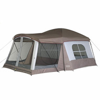 Double Layer Leisure 2 Room 8 10 Person Camping Cabin House Shape Tent