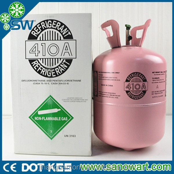 Mixed Freezer gas R410a Refrigerant used in various air condition systems