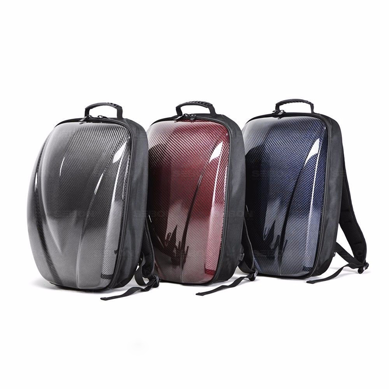 Custom Waterproof Anti Theft Bag Carbon Fiber Hard Cover RFID Blocking Backpack