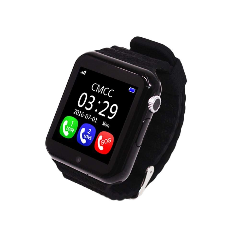 iBaste_S V7K Smart Watch for Kids Children GPS Tracker Smartwatch with Camera Facebook SOS Emergency Security Anti Lost for iOS Android iPhone Samsung