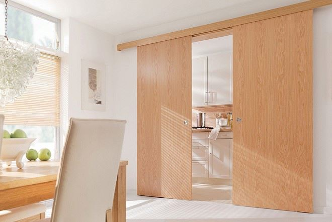 Solid Wooden Sliding Closet Door Dining Room Door Buy
