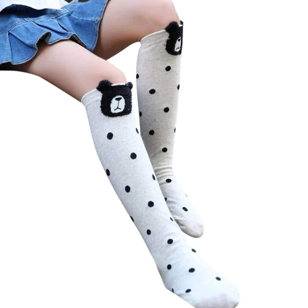 High Elasticity Girl Cotton Knee High Socks Uniform Blue White Paw Women Tube Socks
