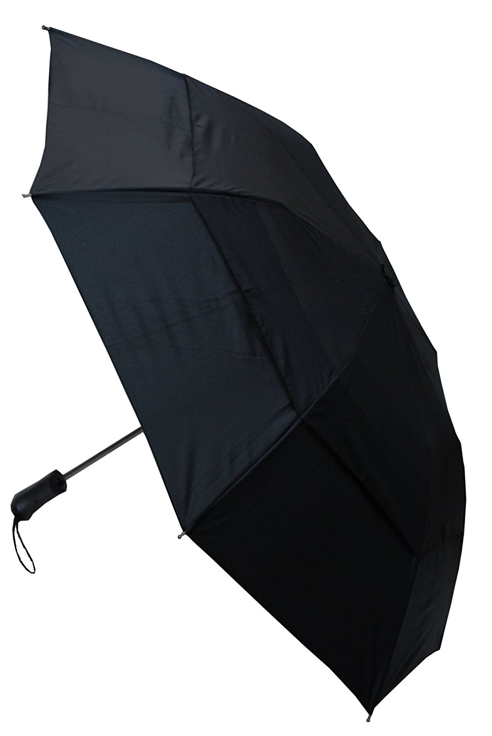 COLLAR AND CUFFS LONDON - Windproof EXTRA STRONG StormProtector Pro Folding Umbrella - Vented Canopy - HIGHLY ENGINEERED TO COMBAT INVERSION DAMAGE - Automatic Open - Medium - 2 Fold - Bi-Fold - Black