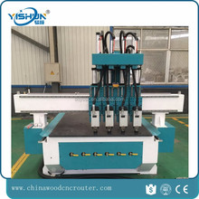 rotary cnc cnc art wood cutting machine price atc multi spindle for door for furniture