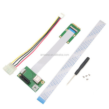 Mini PCI-E to PCI Express 1X Extension Cord Adapter Card with USB Riser Card