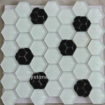 Bathroom And Kitchen Tile Design Black White Mosaic Tiles Hexagon Free Flower Patterns