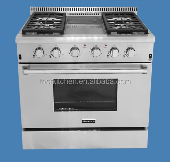 36 inch chinese cooking range with oven with 4-burner and oven cooking range brands