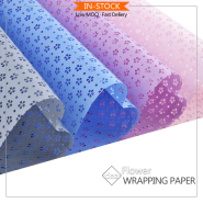 waterproof metallic colors nonwoven polypropylene fiber for flower bouquets