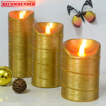 flickering led glitter candle electric christmas candles - Electric Christmas Candles