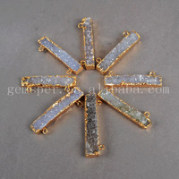 Rough Indian Agate Druzy Connectors Raw Big Natural Semi-precious ...
