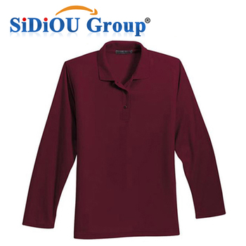 1fa4641beacef Manga Larga De Encargo Camisas Estilo Polo Marrón Polo Camiseta ...