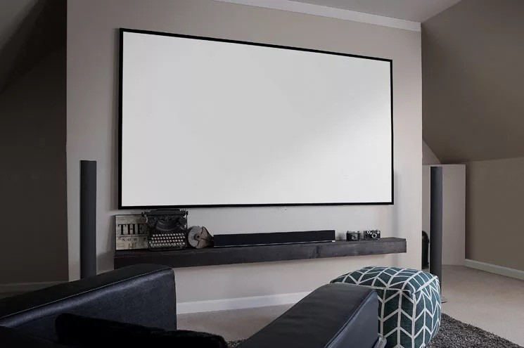 zero edge fixed frame projector screen DIY projection screen, View ...