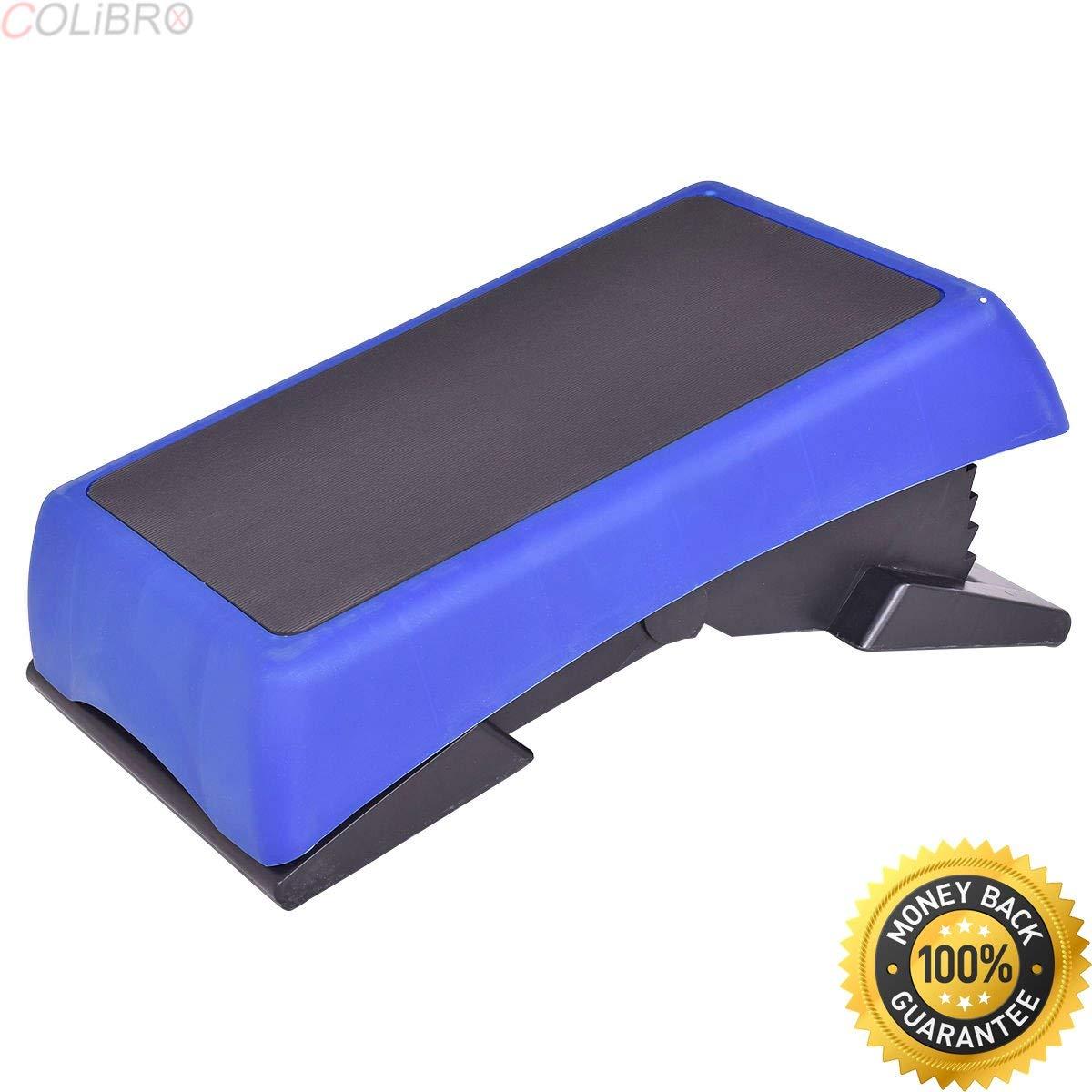 "COLIBROX--26.5'' Fitness Aerobic Stepper Adjustable 6""-7""-8""-9""-10"" Exercise Equipment. aerobic stepper walmart. best aerobic stepper amazon. aerobic steps for sale."
