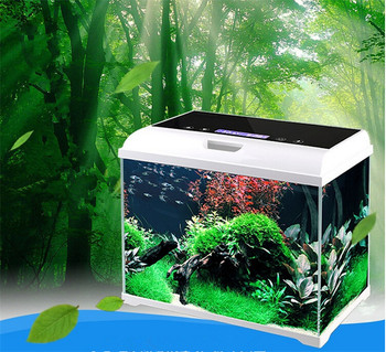Intelligent Touch-screen Control Coffee Table Glass Aquarium Fish ...
