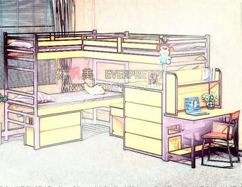 Triplo Letto A Castello.Dormitorio Letto A Castello Tripli Mobili Camera Da Letto A Due