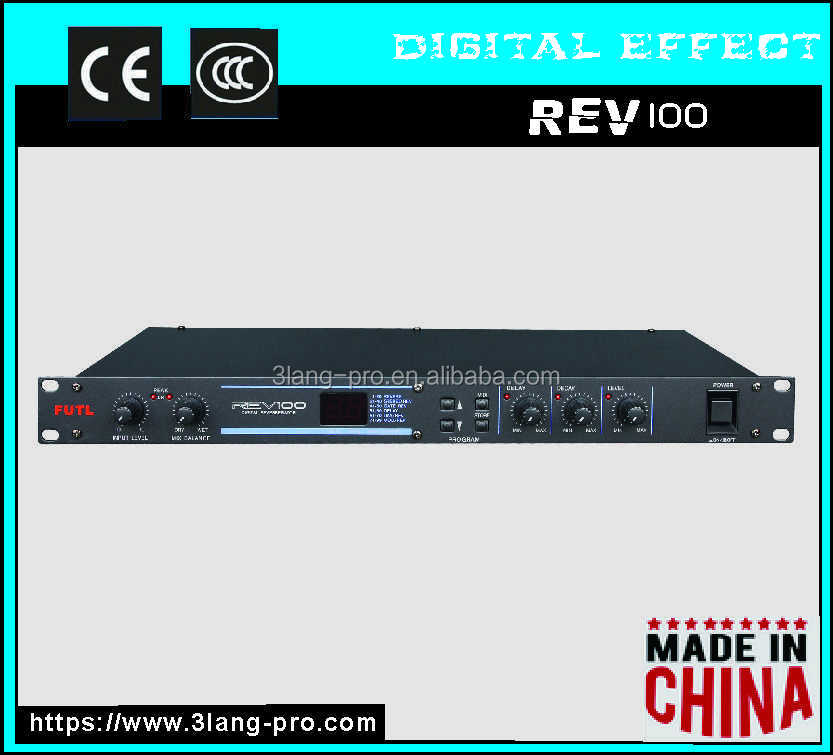 REV100 Professional audio sound system best combination Digital effects editor