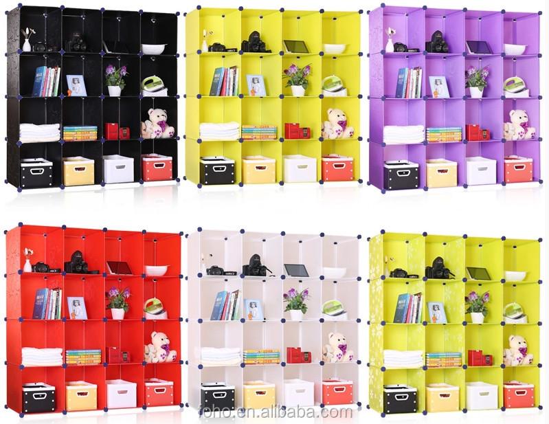 White Color Diy Shoe Rack/ Plastic Shoe Cabinet/ Cube Storage