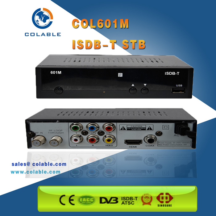 Digital isdb-t tv box set top box made in china